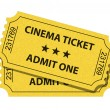 Cinema ticket — Stockvectorbeeld