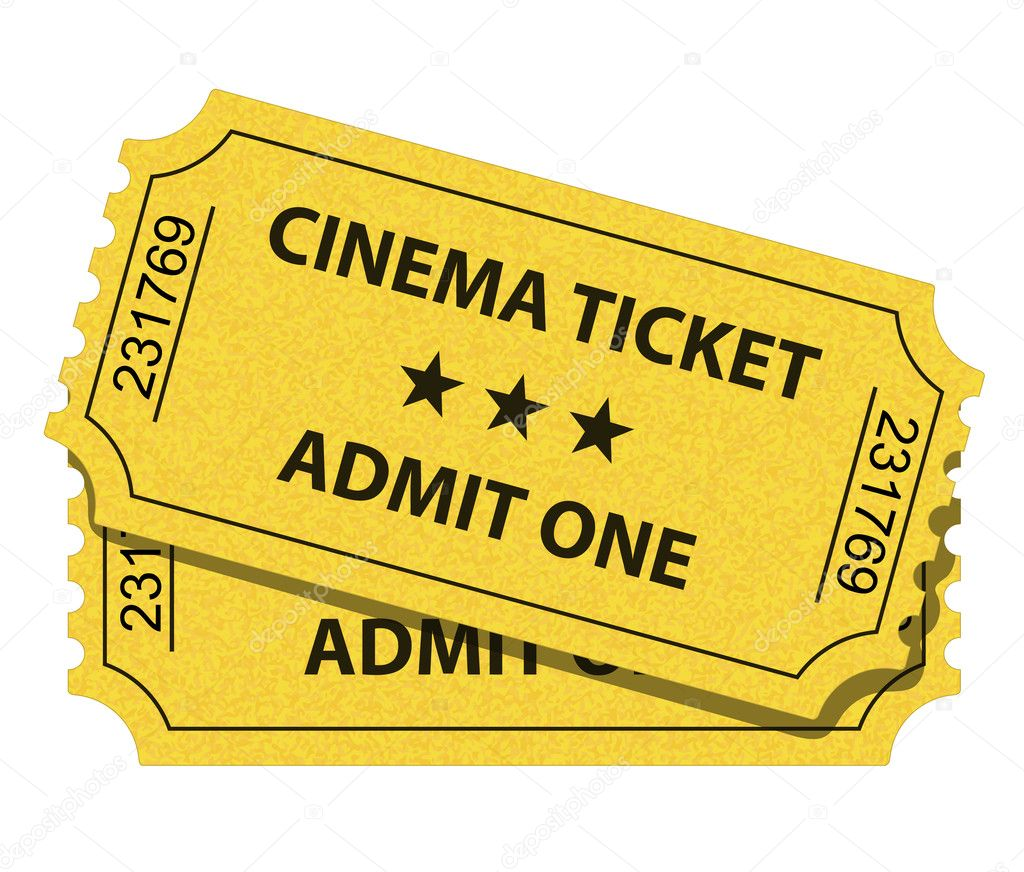 Vector illustration of cinema ticket  Stockvectorbeeld #5551292