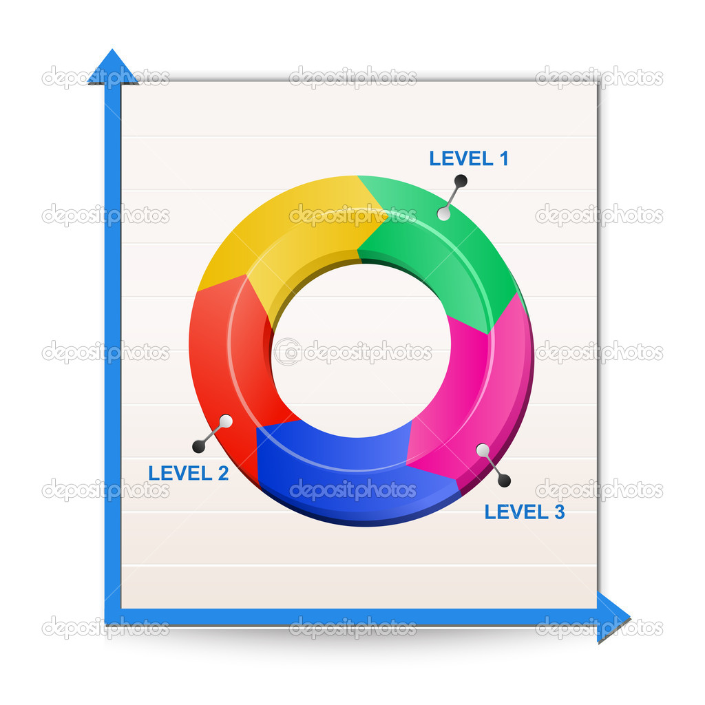 Chart icon. Vector Illustration of Report — Stock Vector #5572502