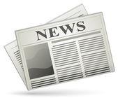 Vektör gazete simgesi — Stok Vektör