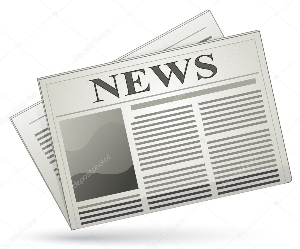Newspaper icon. Vector illustration of newspaper — Stockvectorbeeld #5639890