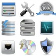 Web Hosting Icons - Stockvectorbeeld