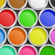 Paint Cans - Stockvectorbeeld