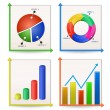 Royalty-Free Stock Obraz wektorowy: Charts and Graphs Collection