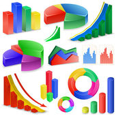 Schémata a grafy kolekce — Stock vektor