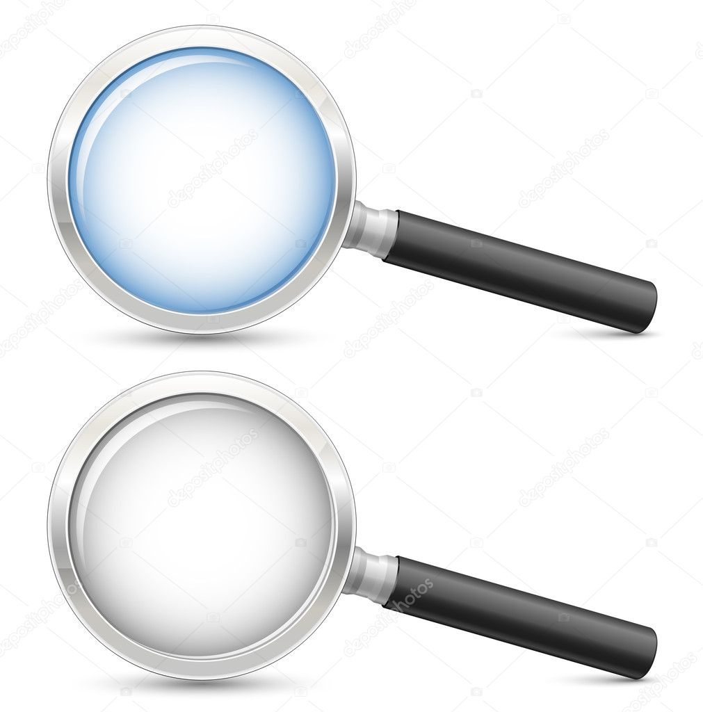Magnifying glass. Highly detailed realistic vector illustration — Stock Vector #5673910