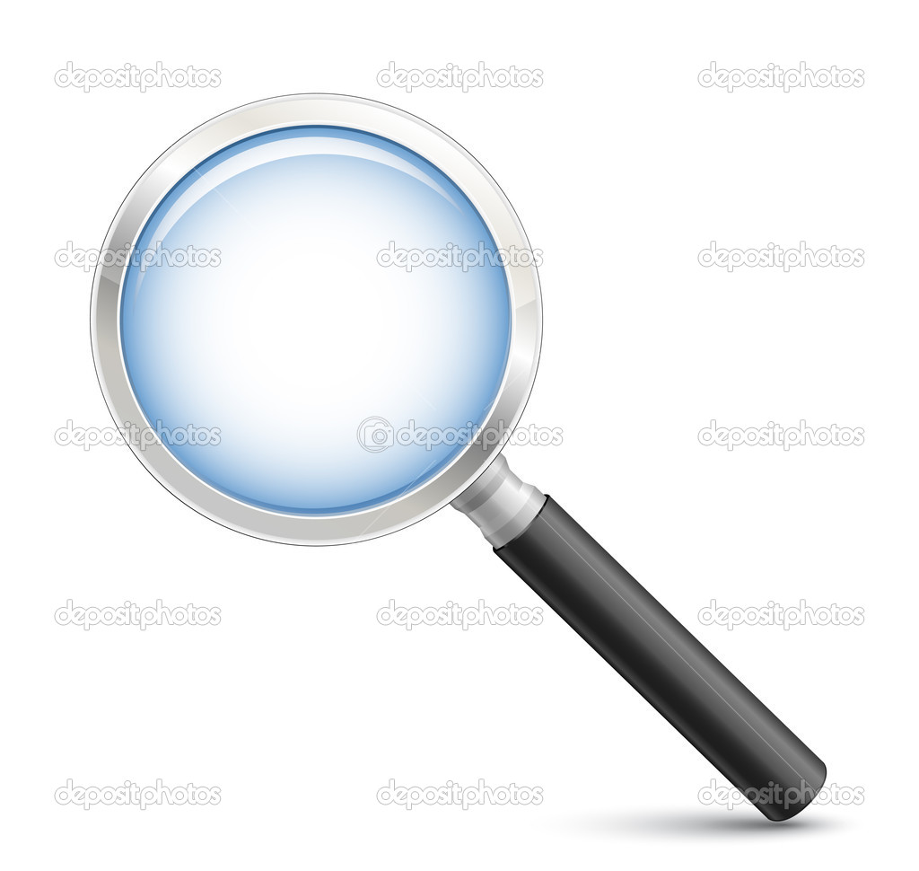 Magnifying glass. Highly detailed realistic vector illustration — Stock Vector #5673915