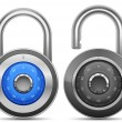 Combination Lock Collection — Stockfoto