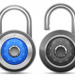 Combination Lock Collection - Stock Photo