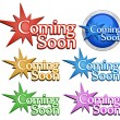 Stock Vector: Coming soon signs