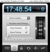 Elementos de interface do usuário para tablet pc ou telefone inteligente — Vetorial Stock