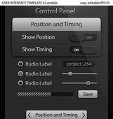 Elementi dell'interfaccia utente per tablet pc o smartphone — Vettoriale Stock