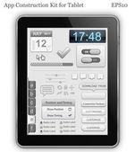Elementos de la interfaz para pc de la tableta o teléfono inteligente — Vector de stock