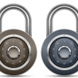 Combination Lock Collection — Stockvektor
