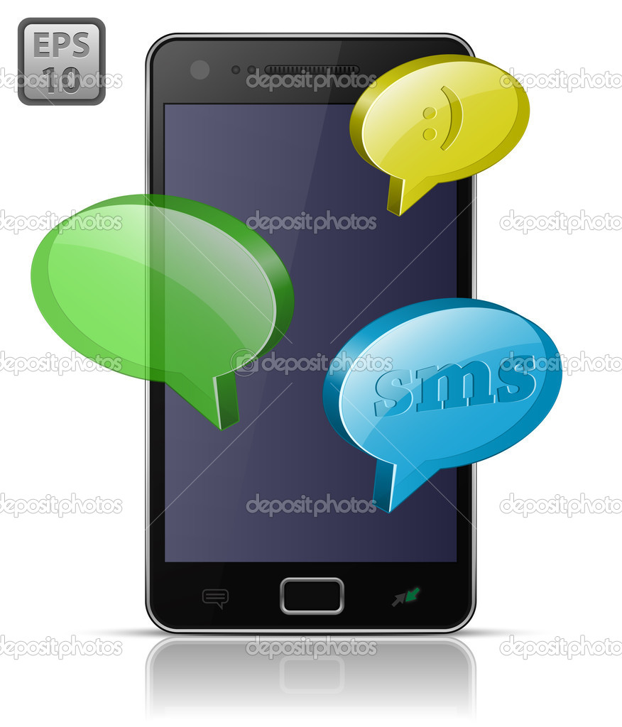 Modern mobile smart phone. Sending and Receiving SMS Messages. EPS10  Image vectorielle #5959817