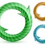 Stripped circular arrows — Stock Vector