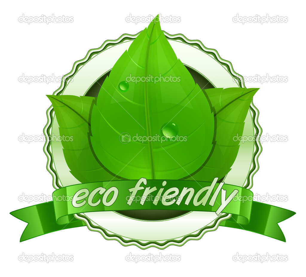 Eco friendly. 100% Natural. Vector natural label — Stockvectorbeeld #5960035