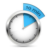 10 minut. ilustracja wektorowa zegar. — Wektor stockowy