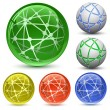 Stockvektor : Abstract Globe Icon Set