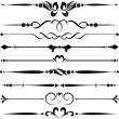Set of decorative elements - Stock Vector