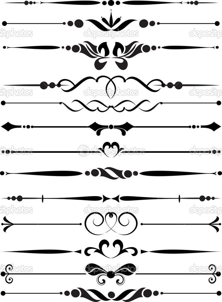 Set of decorative elements stock vector galinashpak for Decoration elements