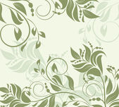 Floral ornamental background — Stock Vector