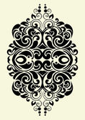 Design ornamental element in vintage style vectorized — Stock Vector