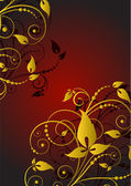 Flower background. Vector — Stock Vector