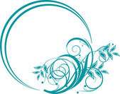 Floral decorative element — Stock Vector