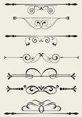 Set of small decorative elements — Stock Vector