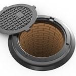 Canalization manhole — Stock Photo