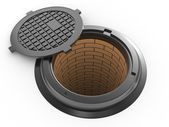 Canalization manhole — Stockfoto
