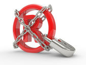 Marka sembolü zincirleri ile 3d — Stok fotoğraf