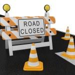Road closed warning sign — Stock Photo #5801945