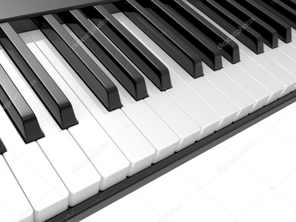 Piano With no Black Keys Black White Piano Keys