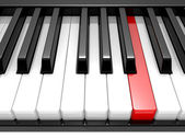 3d illustration black & white piano keys — Stok fotoğraf
