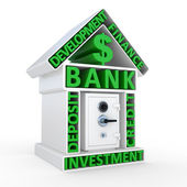Building of bank and the safe, abstract design — Stock Photo