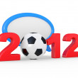 Europe on football 2012 Ukraine — Stock Photo