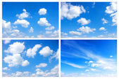 White clouds — Foto Stock