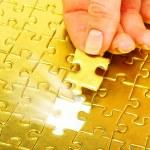 Gold pazles — Stock Photo #6266764