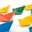 Paper ships — Stock Photo