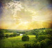 Vintage landscape photo — Stockfoto