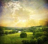 Vintage landschaft foto — Stockfoto