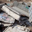 Stock Photo: Pile of concrete slabs