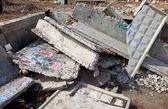 Pilha de lajes de concreto — Foto Stock