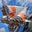 Russian space transport rocket — Stock Photo #5487793