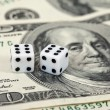 Royalty-Free Stock Photo: Gaming dice and money