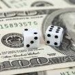 Stock Photo: Gaming dice and money