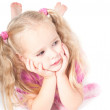Little cute girl in studio — Stock Photo #5888238