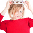 Portrait of beautiful woman with crown — Stock Photo #5943064